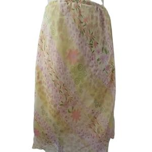 Amy Byer's Yellow Floral Girl's Size 6 Skirt